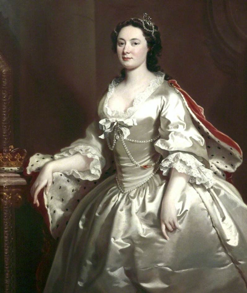 Anne Wells, aka Duchess of Chandos (died 1759) by Joseph Highmore, in the Walker Art Gallery