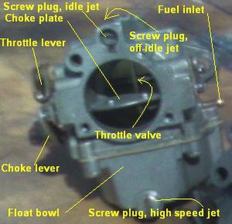Carburetor - 1979 Evinrude Type I marine sidedraft carburetor