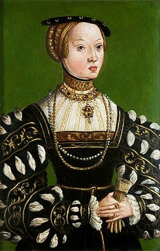 Elizabeth of Austria (1526–1545) - Portrait by Lucas Cranach the Younger