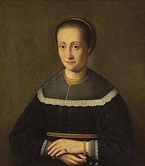 Portrait of a lady with forget-me-nots, possibly Jadwiga Wypyska née Łuszkowska