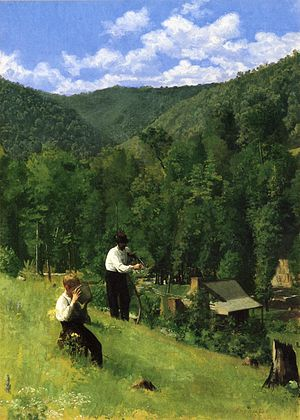 Thomas Pollock Anshutz - Image: Anschutz Thomas P The Farmer and His Son at Harvesting