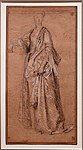 Antoine watteau, donna in piedi con mano detsra appoggiata, 1714 ca. (petit palais parigi).jpg