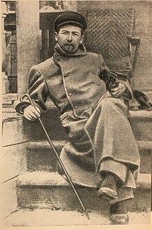 Чехов Антон Павлович Википедия Чехов в Мелихове с таксой Хиной 1897