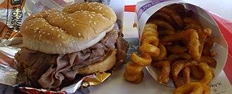 Arby's - Arby's medium roast beef with fries