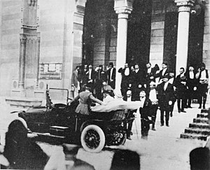 National and University Library of Bosnia and Herzegovina - Image: Archduke Franz Ferdinand in Sarajevo, June 1914 Q91848