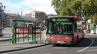 Bilbobus - Line 56 bus, the most used line.