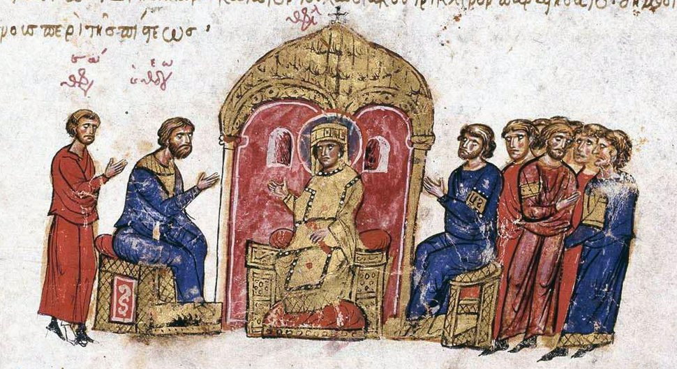 Argument about icons (Skylitzis Chronicle)