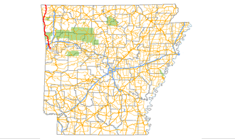 Arkansas Highway 59 - Image: Arkansas 59