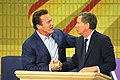 Arnold Schwarzenegger and John Kasich at the first New Way California event in Los Angeles (39150324420).jpg
