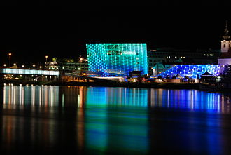 Ars Electronica Center - The Ars Electronica Center at night