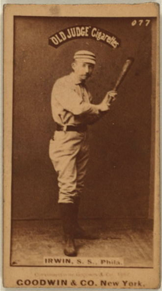 Worcester Worcesters all-time roster - Arthur Irwin was the starting shortstop for  the first two seasons, then switch over to third base for most of the 1882 season.