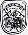 Arte et Marte, Exlibris der Stadtbibliothek Zürich, gegründet 1629.JPG
