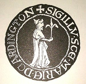 Arthington Priory - Image: Arthington Priory Seal 001