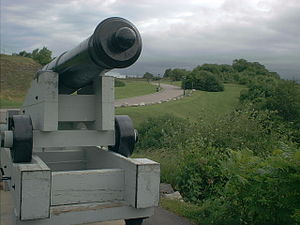 The Battlefields Park - An artillery piece on display at The Battlefields Park