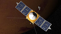 Artist conception of MAVEN spacecraft