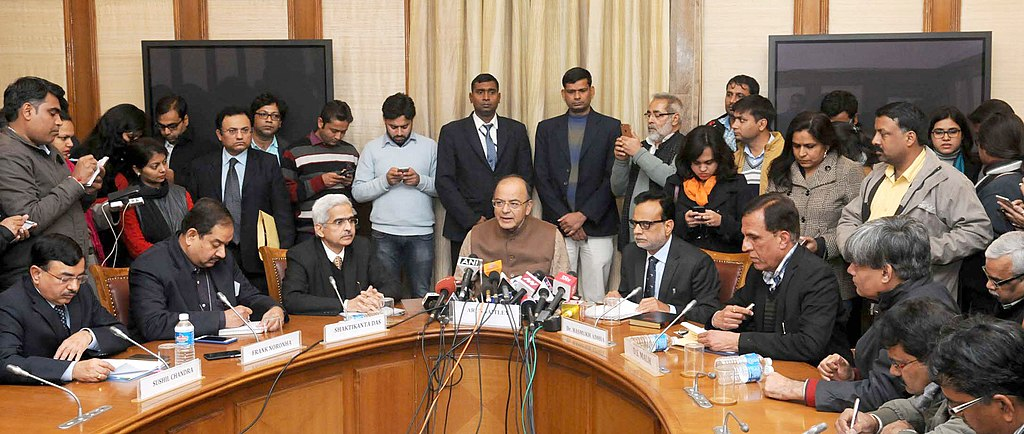 Filearun Jaitley Briefing The Media After Signing Of The Third
