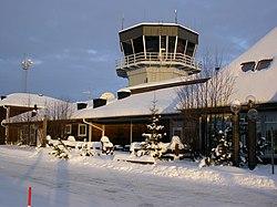 Kontroltårnet ved Arvidsjaur lufthavn.