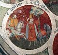 Asciano, museo di palazzo corboli, int., sala di aristotele con affreschi attr. a Cristoforo di Bindoccio e Meo di Pero, XIV sec. 09.JPG