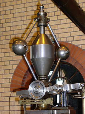 Centrifugal governor - Porter governor on a Corliss steam engine