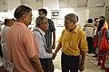 Asit Kumar Ray Shakes Hands with Nrisingha Prasad Bhaduri - Group Exhibition - PAD - Kolkata 2016-07-29 5379.JPG