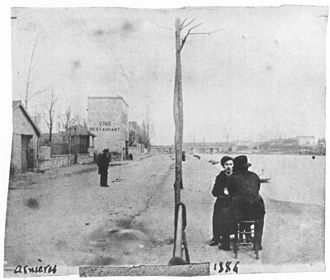 Asnières (Van Gogh series) - Émile Bernard and Vincent van Gogh (his back to the camera) along the Seine in Asnières