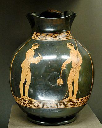Metapontum - An oenochoe (wine jug) found near Metapontum.