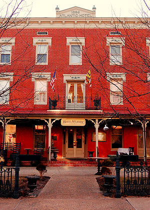 National Register of Historic Places listings in Worcester County, Maryland - Image: Atlantic Hotel Berlin LR Walls