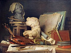 Anne Vallayer-Coster: Attributes of Painting, Sculpture and Architecture