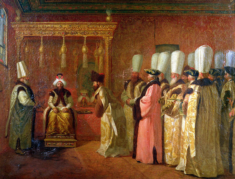 CONFESSIONS d'un espion britanniques, PERE du WAHABISME - Page 2 787px-Audience-of-Charles-Gravier-Comte-de-Vergennes-with-The-Sultan-Osman-III-in-Constantinople-1755
