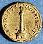 Aureo con la Colonna Traiana