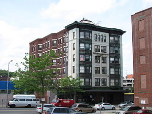National Register of Historic Places listings in southwestern Worcester, Massachusetts - Image: Aurora Hotel, Worcester MA