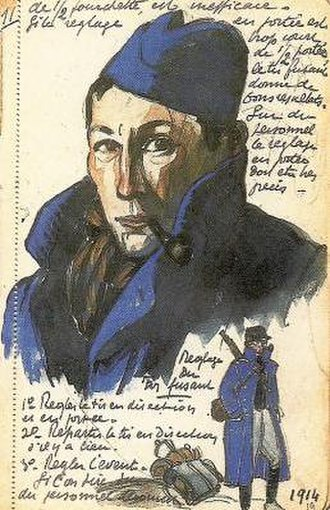 André Mare - Self-portrait during World War I