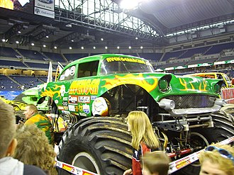 Avenger (truck) - Avenger during the party in the pits on January 16, 2010 Ford Field