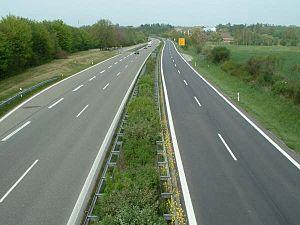 Bundesstraße 30 - Dual carriageway B30 near Achstetten