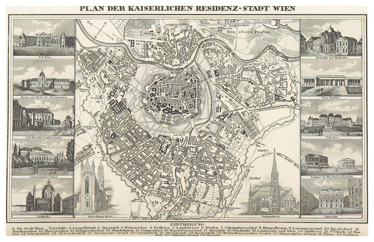 file bechstein 1843 p142 plan der kaiserlichen residenz stadt wikimedia commons. Black Bedroom Furniture Sets. Home Design Ideas