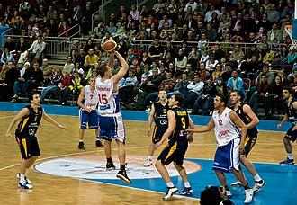 BK Barons - Match against KK Zagreb in 2008