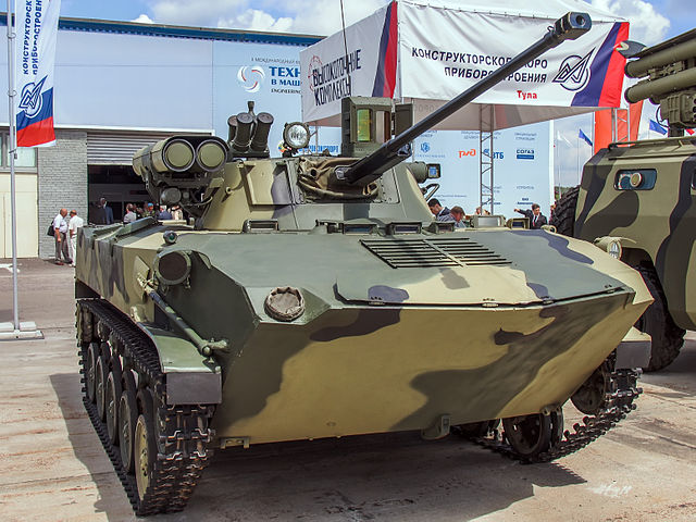 BMD-2M turret at Engineering Technologies 2012