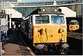 "BR Class 50 no. 50035 ""Ark Royal,"" London Waterloo, 22 November 1986.jpg"