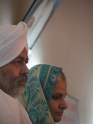 Baba Hardev Singh - Baba Hardev Singh with his wife Sawinder Kaur in 2011