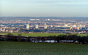 View over Dresden from the south-eastern slopes