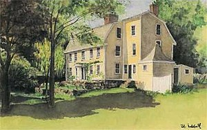 Babson-Alling House - Painting of Babson-Alling House