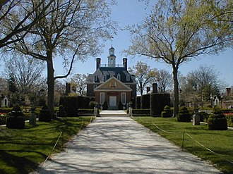 Governor of Virginia - The reconstructed colonial Governor's Palace in Williamsburg, Virginia