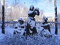 """Bad Kissingen - Skulptur """"Hygeia mit Rákóczi und Pandur"""" - snow.JPG"""