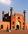 Badshahi Mosque entrance as seen from inside.jpg