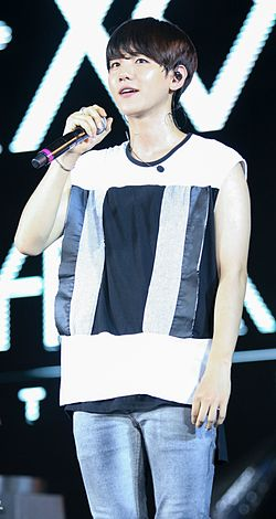Baekhyun Byun at the EXO The Lost Planet in Jakarta 02.jpg