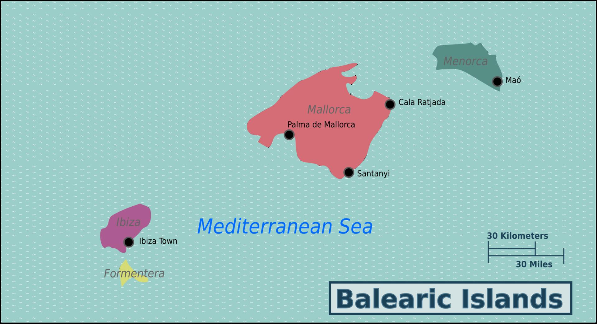 Balearicc Islands Map