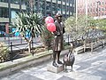 Balloons on the Statue at Upper Thames Street - geograph.org.uk - 764235.jpg