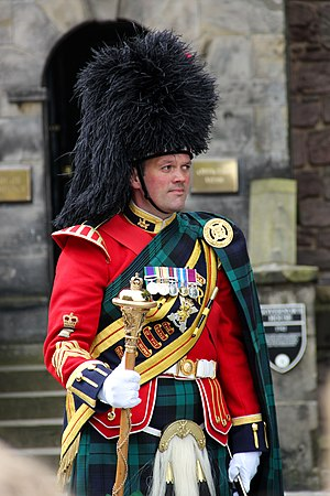 Royal Regiment of Scotland - Drum Major from the Band of the Royal Regiment of Scotland inside Edinburgh Castle
