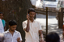 Bangalore dude on cellphone 2011 -12-2.jpg