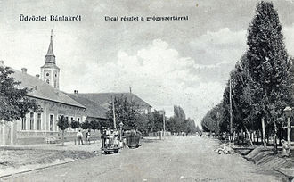 Banloc - View of the Banloc center near the year 1906